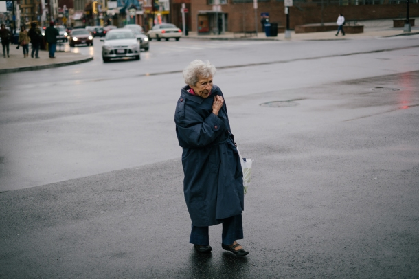 OG Lady Crossing Street