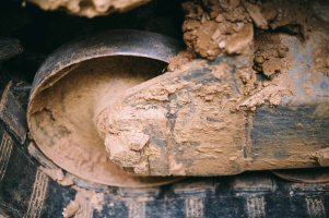 Dirt-crusted Wheel