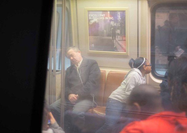 Sleeping in Subway