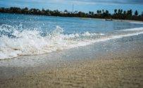 Wave walking away