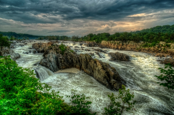 Golden Great Falls HDR