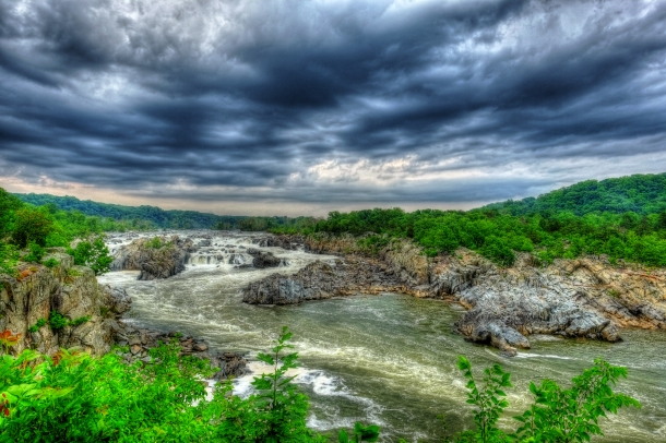 Great Falls Velvia HDR
