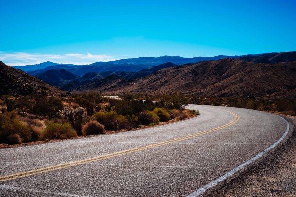 Driving through Joshua Tree