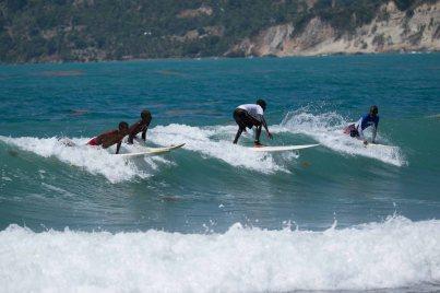 Haitian Surfers