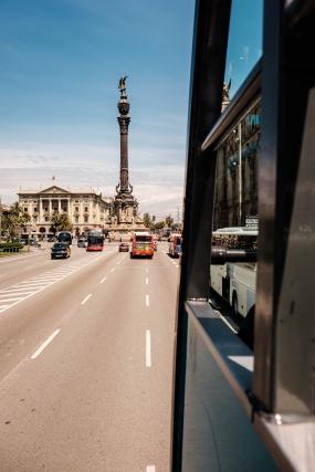 Bus Ride in Barcelona